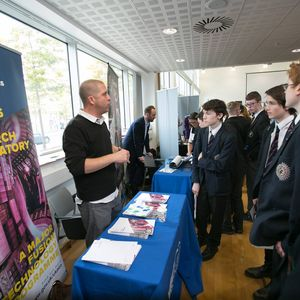 Culham's David Homfray at a careers fair
