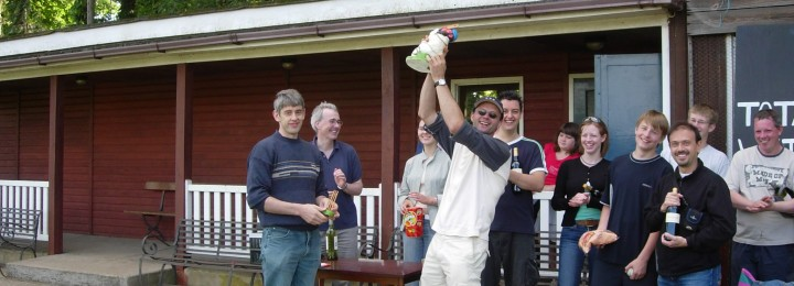 The attractive winning trophy was presented to the proud captain of the Away-Team