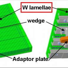 Figure 3: Example of the design of a bulk tungsten tile for the heavily power-loaded areas of the future JET tungsten divertor.