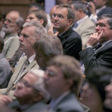 Captivated audience during the SOFT conference in Warsaw, Poland
