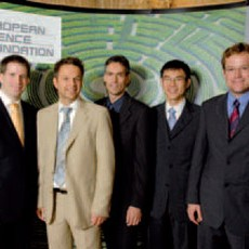 Outstanding scientists: Klaus Hallatschek (right) with other EURYI Winners