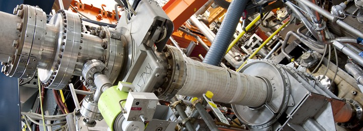picture of The beamline for the X-ray diagnostics