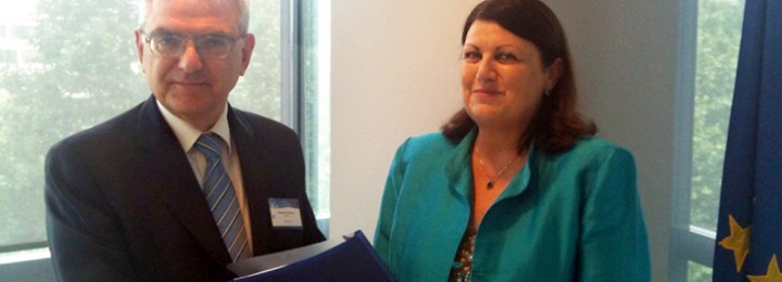 picture of Francesco Romanelli and Máire Geoghegan-Quinn