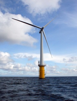 picture of The floating wind turbine Hywind