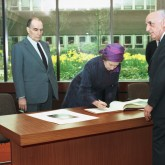 Official Photo Signing by President Mitterand