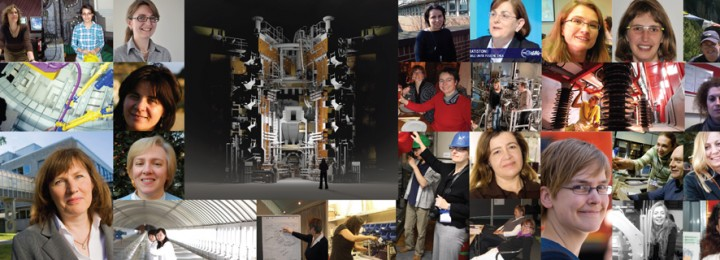 photo montage of women in science