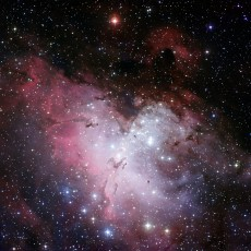 Three-colour composite mosaic image of the Eagle Nebula (Image: ESO)