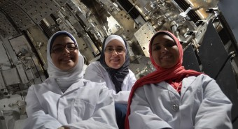 picture of Azza Faiad, et al on their visit to JET
