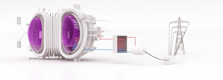 schematic drawing of fusion power plant