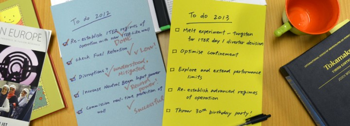 A busy year ahead: During 2013, experiments at JET will build on the excellent progress during 2012