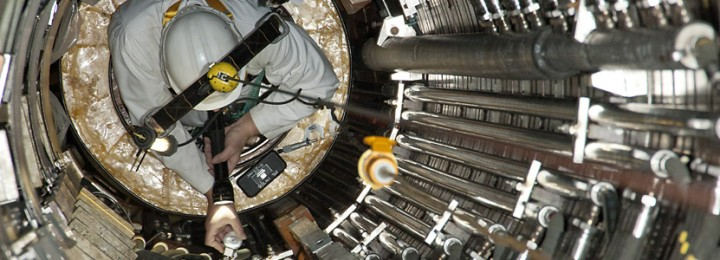 Internal inspection of the centre tube following the removal of the P1 Coils during the JET Tile Exchange Intervention - November 2012