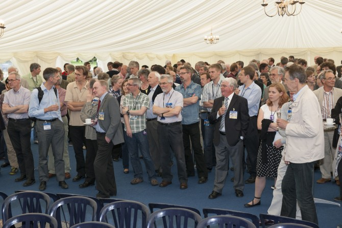 After the formal presentations a large crowd gathered in the marquee.