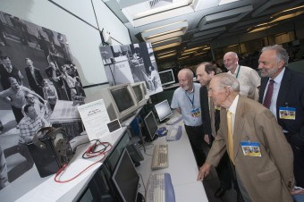 At the time of the re-enactment of JET's original pulse a crowd assembled in the control room to compare the original equipment that measured the first pulse …