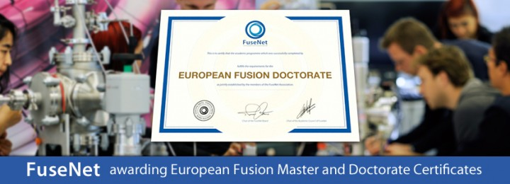 Fusenet certificate recognises qualified fusion scientists