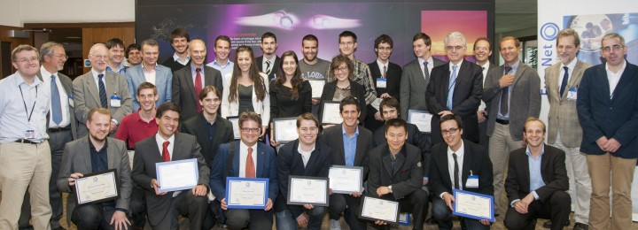 All the FuseNet students with their certificates and FuseNet organisers.