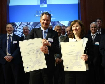 Robert-Jan Smits and Prof. Sibylle Günter signed the grant agreement between EUROfusion and the European Commission.
