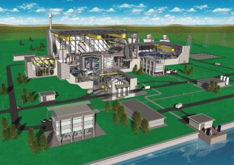 An artist's impression of a fusion power plant based on the European Power Plant Conceptual Study