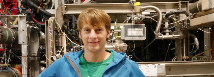 EUROfusion fellow Matthias Willensdorfer at the ASDEX Upgrade, Max Planck Institute for Plasma. Photo EUROfusion.