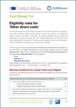 Fact Sheet 1.4 - Eligibility rules for 'Other direct costs'