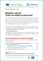 Fact Sheet 1.5 - Eligibility rules for 'Costs of Mobility of personnel'