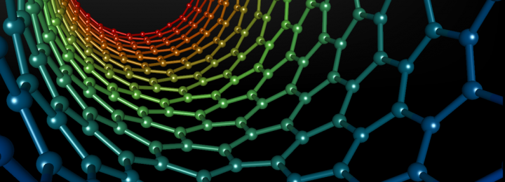 Image:  Inside  a carbon nanotube. Mstroeck at the English language Wikipedia [CC-BY-SA-3.0 (http://creativecommons.org/licenses/by-sa/3.0/), GFDL (http://www.gnu.org/copyleft/fdl.html) or CC-BY-SA-3.0 (http://creativecommons.org/licenses/by-sa/3.0/)], from Wikimedia Common.