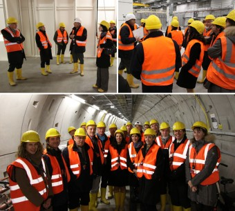 The leaders of the eight EIROforum members gathered together for a visit of the European XFEL construction site in November last year. Picture: European XFEL
