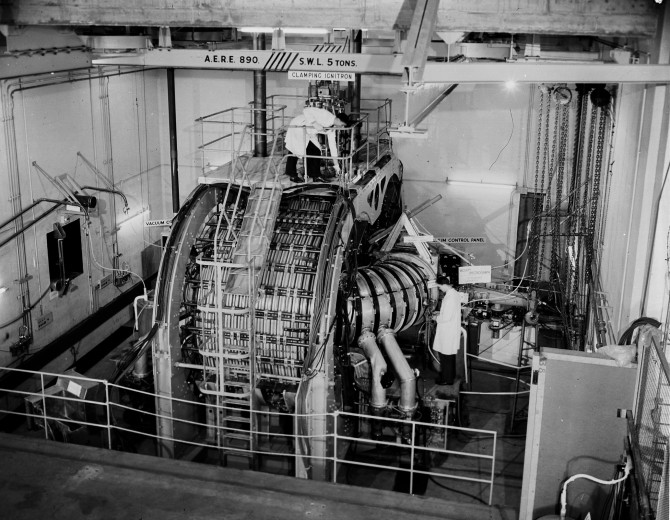 The ZETA device at Harwell. The size of it was unmatched for almost two decades. Picture: © protected by United Kingdom Atomic Energy Authority