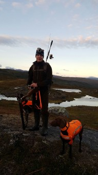 Antti Snicker enjoys hunting in his spare time. The picture shows him with his dogs Elli and Pisla in his home country Finland. Picture: private