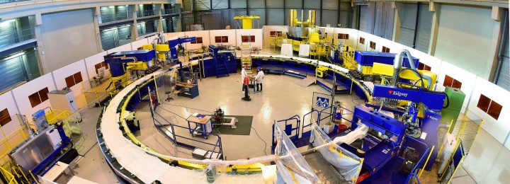 One enormous factory just for magnets: inside the facility on the ITER site. Picture: F4E