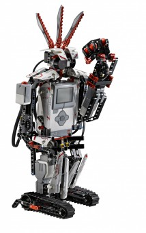 The Ev3storm roboter is one of the models the school children learned to programme. Picture: The Lego Group